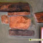 Detalle vigas y piedra