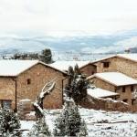 La Masía bajo la nieve